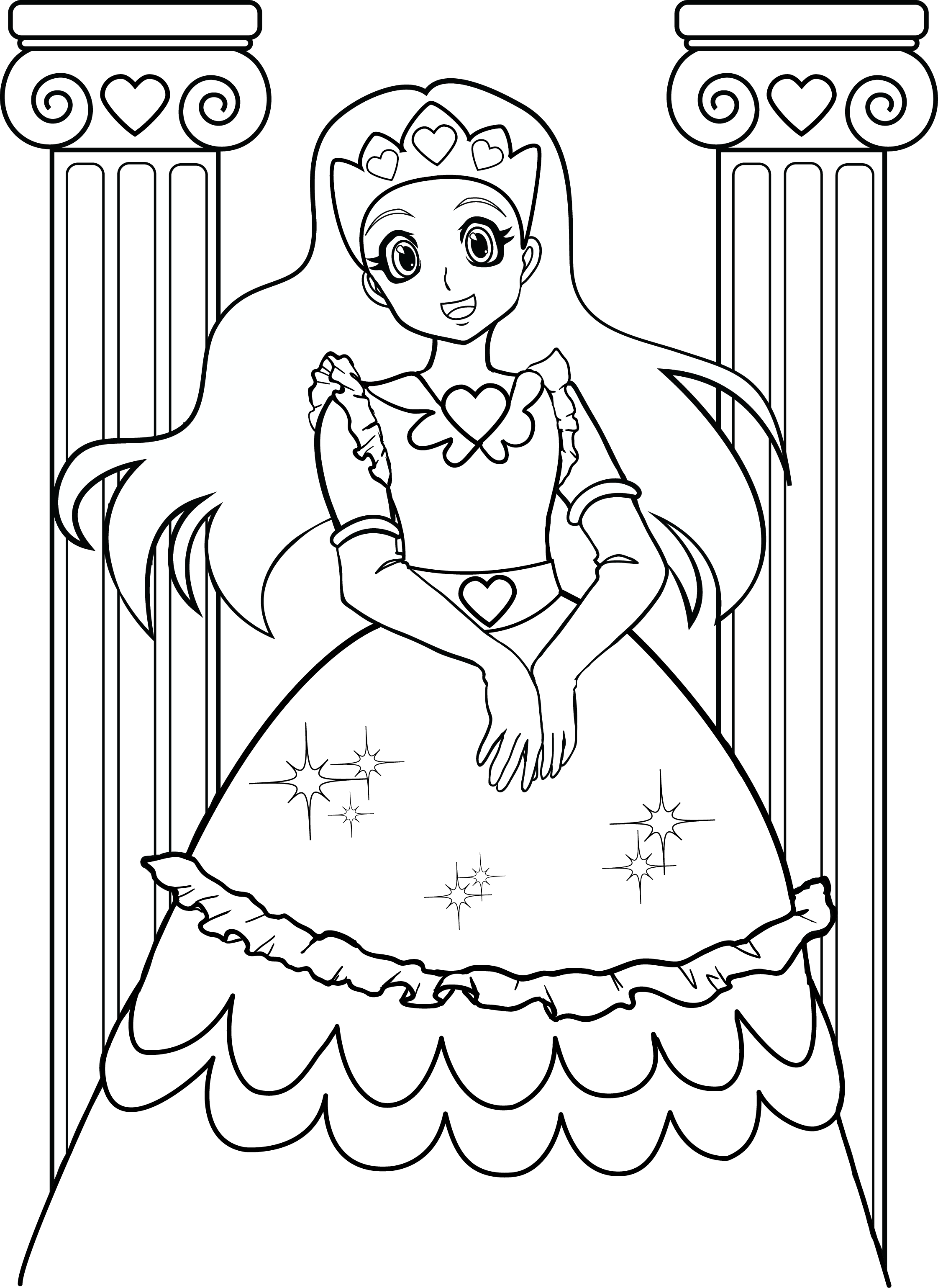 Coloring Pages For Girls (7) | Coloring Kids