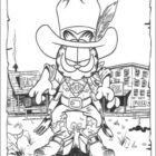 Cowboy Coloring Pages (1)