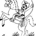 Cowboy Coloring Pages (10)