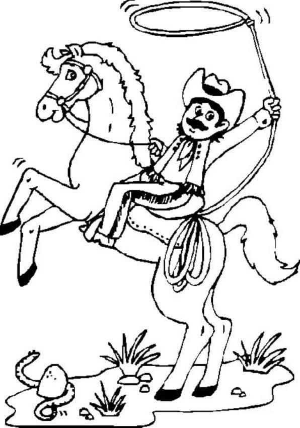 Cowboy Coloring Pages (10)