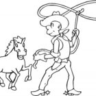 Cowboy Coloring Pages (3)