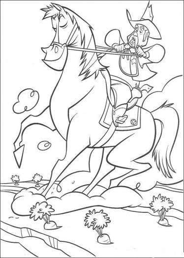 Cowboy Coloring Pages (4)