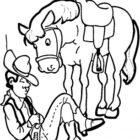 Cowboy Coloring Pages (6)
