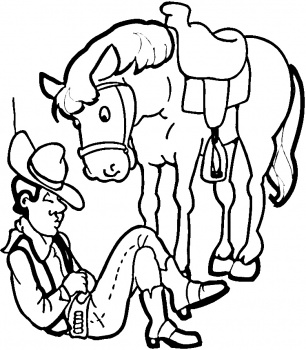 Cowboy Coloring Pages (6)
