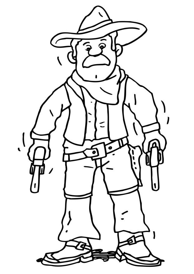 Cowboy Coloring Pages (8)