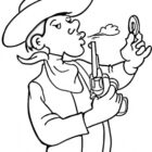 Cowboy Coloring Pages (9)