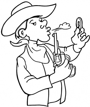 Cowboy Coloring Pages (9)