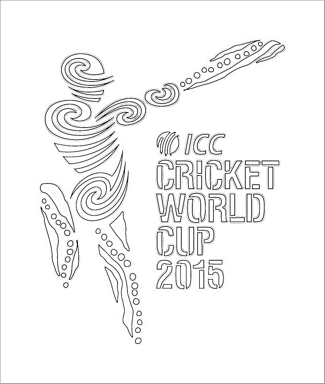 Cricket World Cup 2015 Logo Coloring Kids Coloring Kids