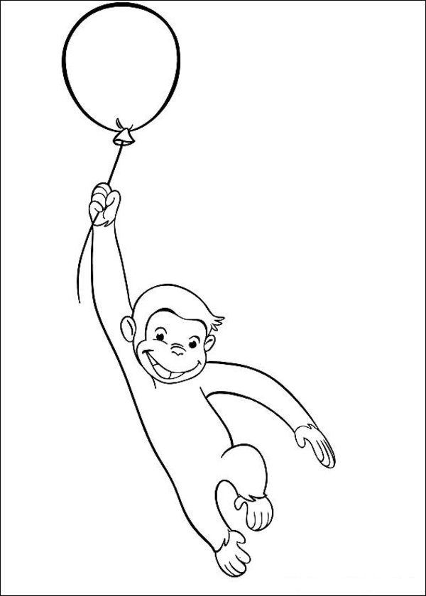 Curiose George Coloring Pages (8)