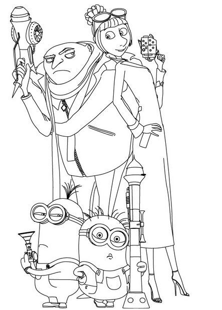 Despicable Me Coloring Pages (6)