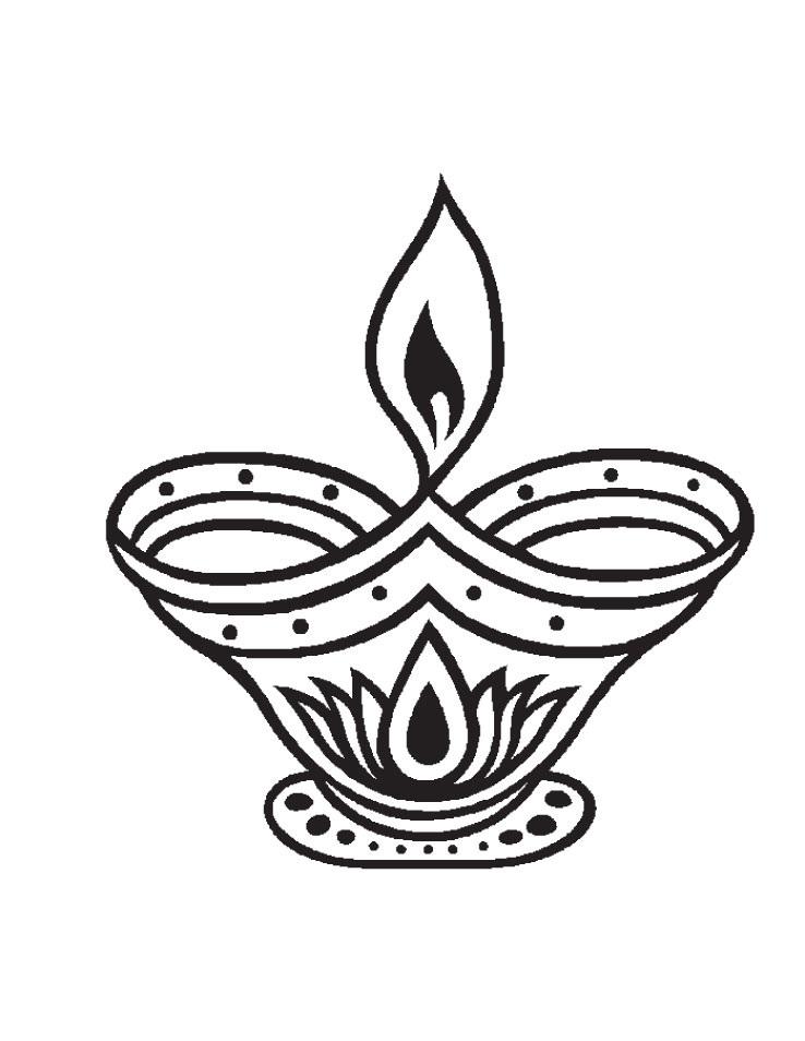 Diwali Coloring Pages (3) - Coloring Kids