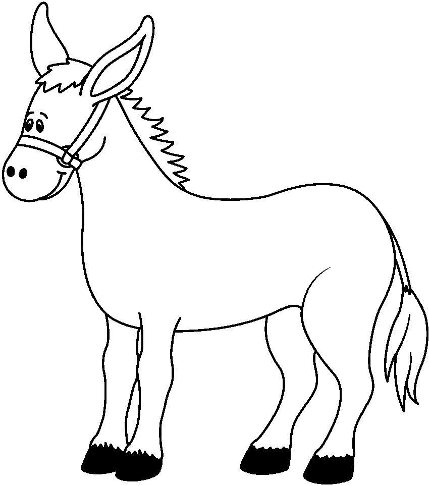 donkey coloring pages 1