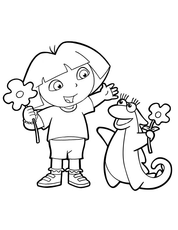 Dora the Explorer Coloring Pages (18)