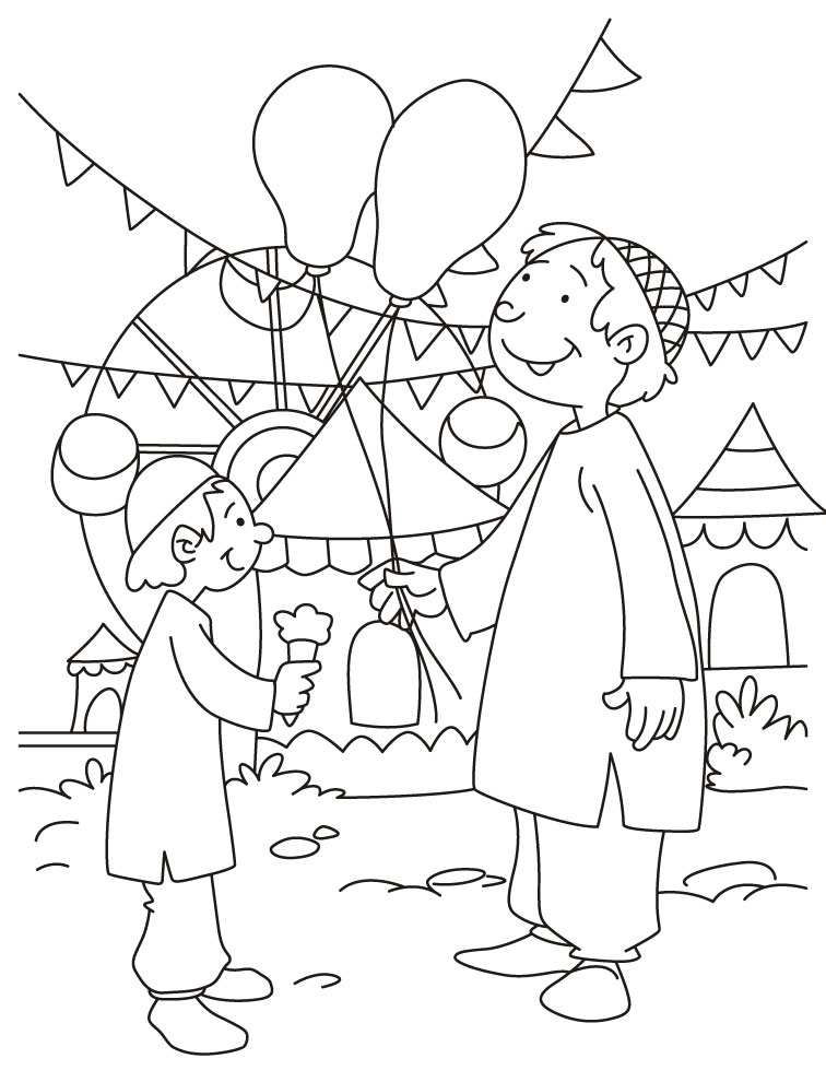Eid Coloring Pages 3 Coloring Kids