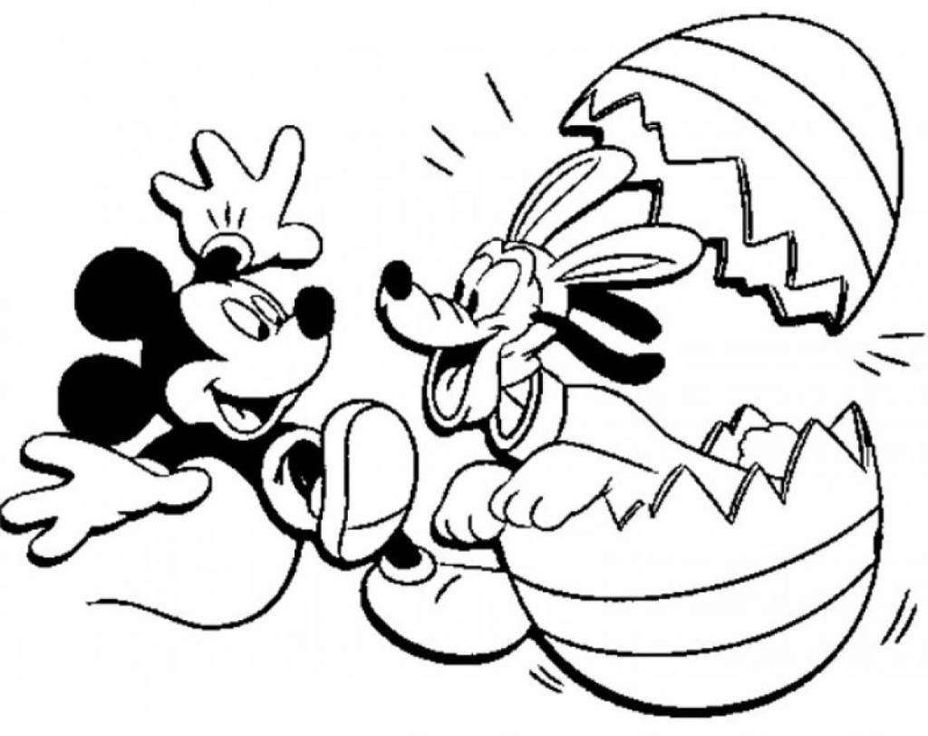 excellent Mickey mouse easter coloring pages –