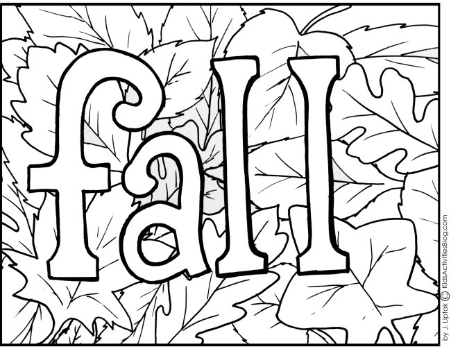 Fall Coloring Pages – Walloid