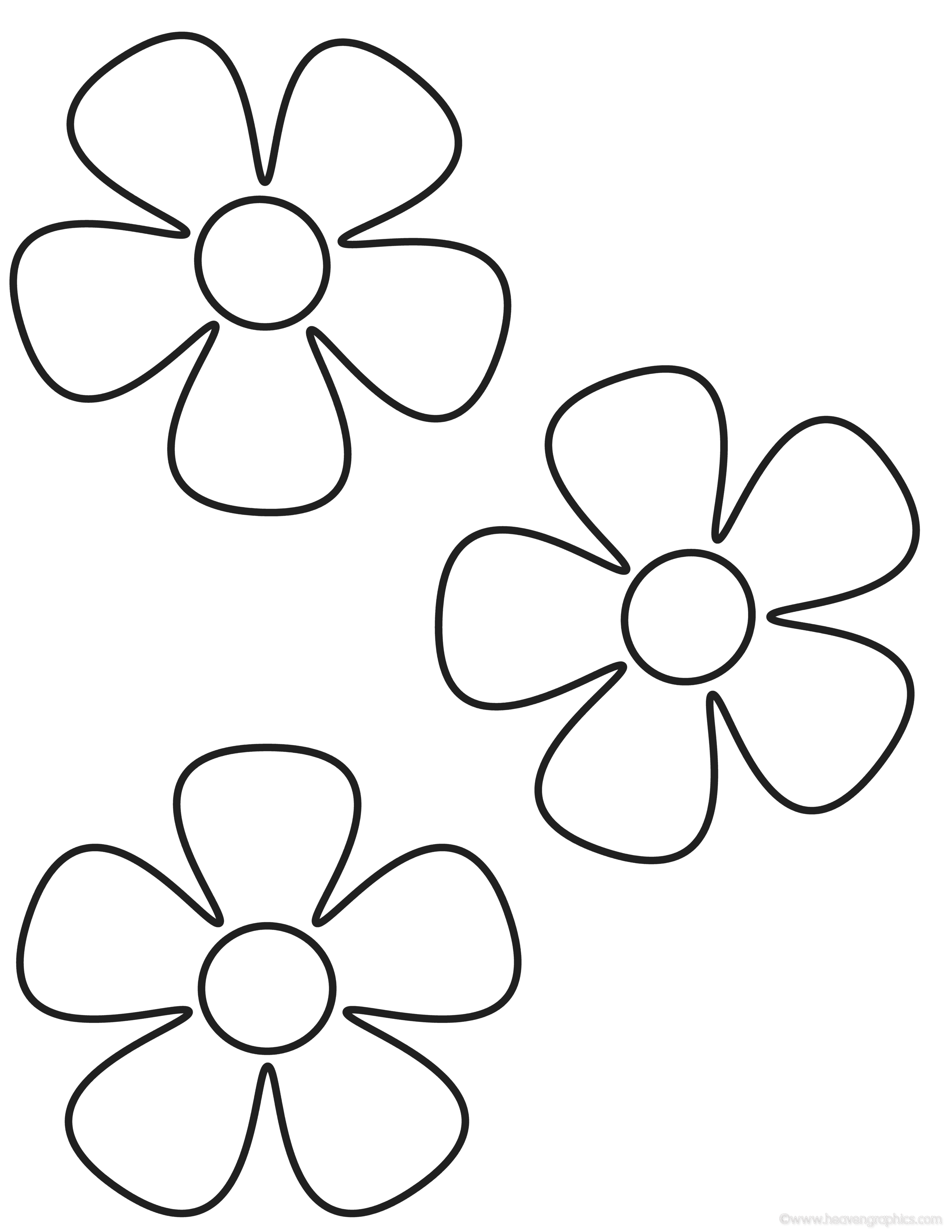 Flower Coloring Pages (1) Coloring Kids - Coloring Kids