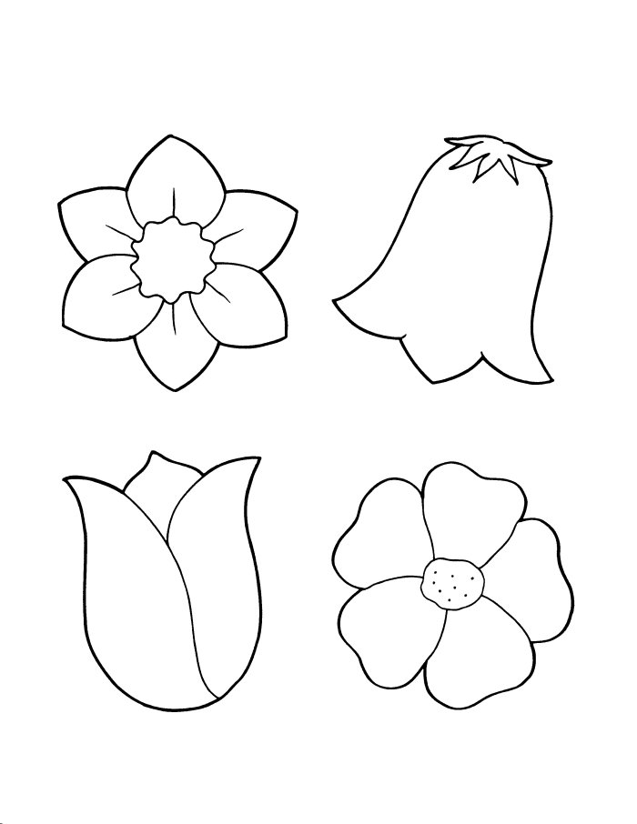 Flower Coloring Pages (10) Coloring Kids - Coloring Kids