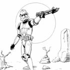 Wonderful Captain Rex Star Wars Colouring Pages Star Wars