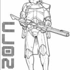 Free coloring pages of star wars 3