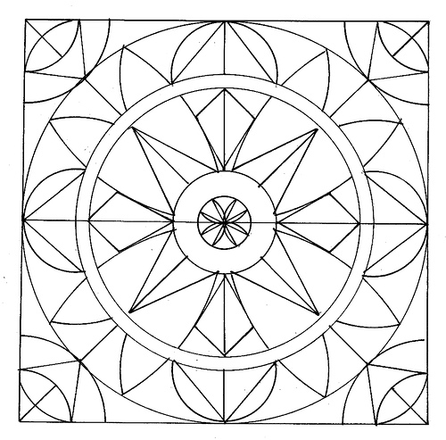Geometric Coloring Pages (5) | Coloring Kids