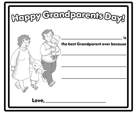 Grandparents Day Coloring Pages | SelfColoringPages.com