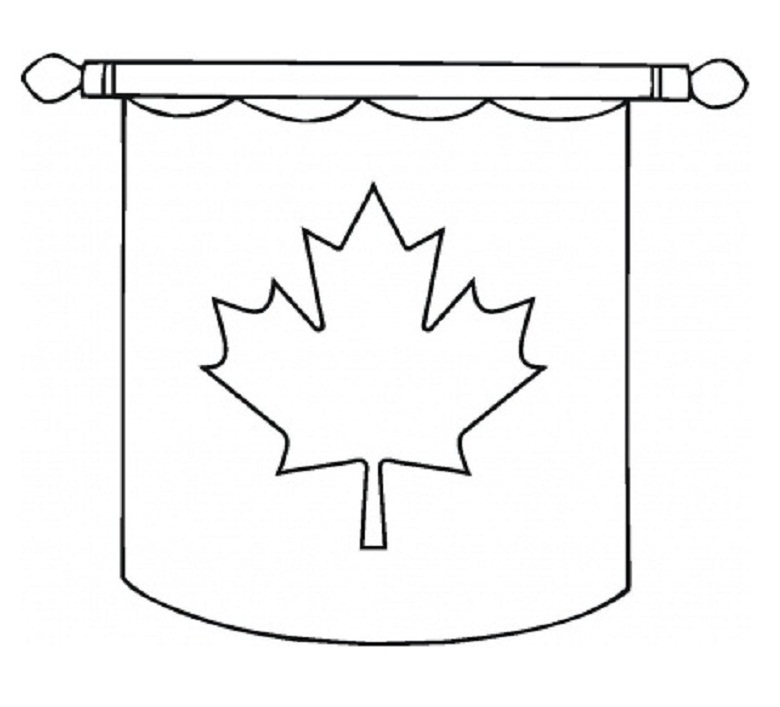 Hanging-Canada-Flag-Coloring-Pages-of-Canada-Day