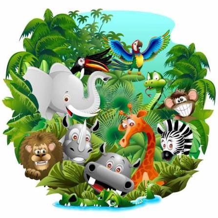 Jungle Cartoon Picture Coloring