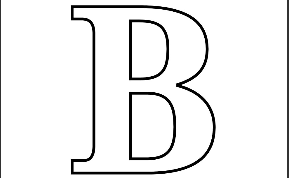 Letter Coloring Pages (3)