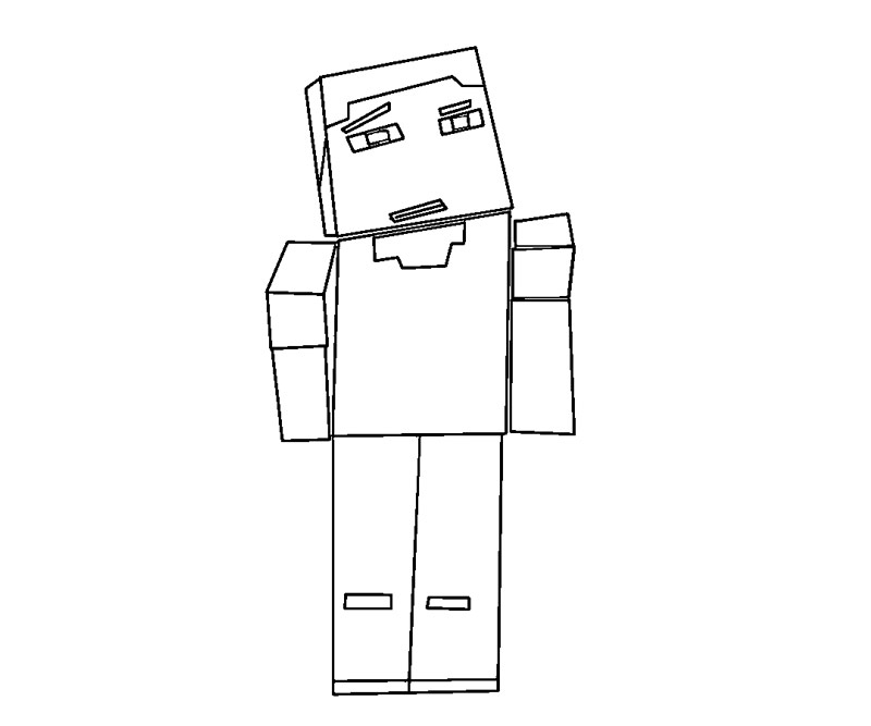 Random Minecraft Coloring Pages