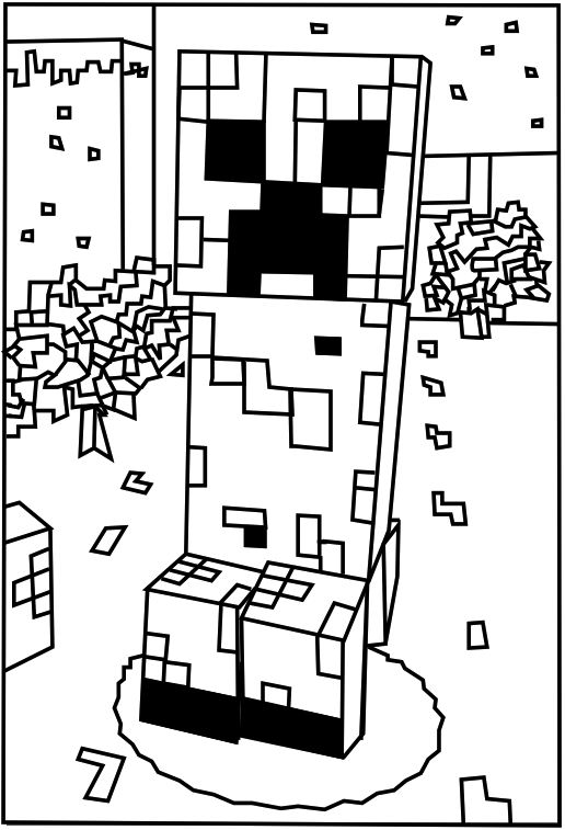 Minecraft-creeper2 Coloring Kids - Coloring Kids