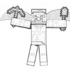 another minecraft coloring pages