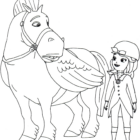 minimus and sofia the first coloring page