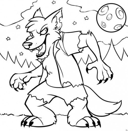 Monster Spooky Halloween Coloring Pages For Kids – Hallowen …