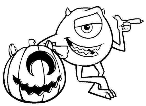 Monsters inc halloween coloring pages | www.coloringkids.org