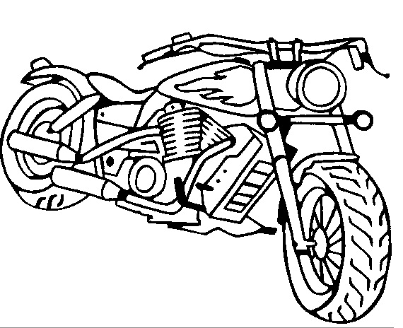 Motorcycle Coloring Pages 3 Print