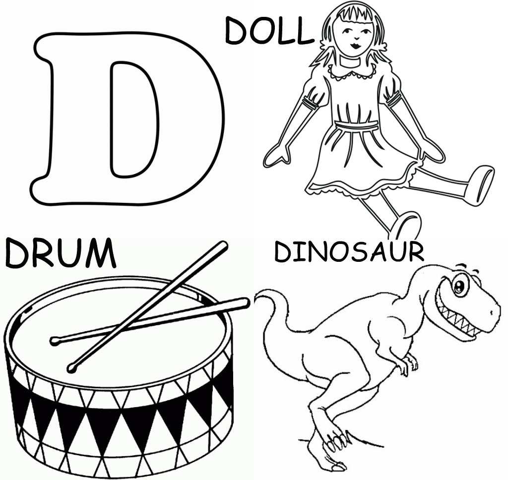 pictures of things starting with the letter d things coloring pages that start with the letter d sketch 960