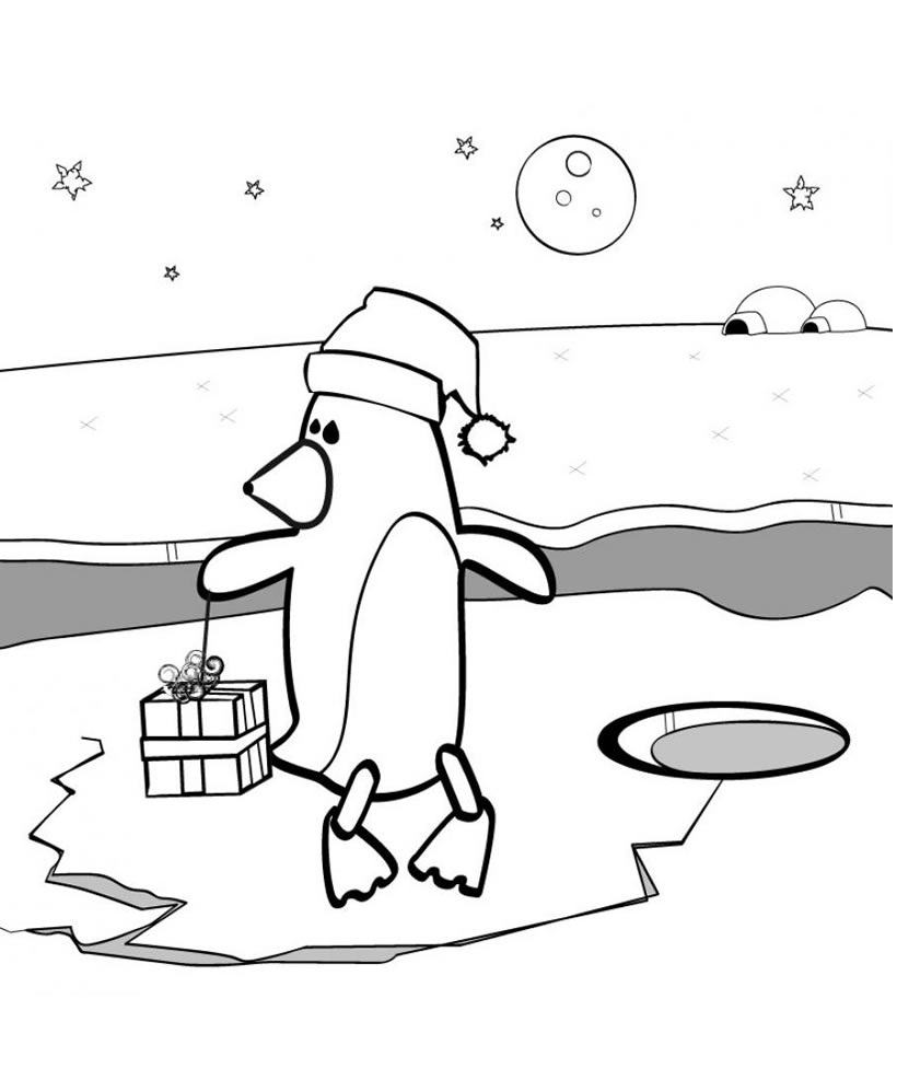 Penguin Coloring Pages (5)