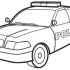 Police Car -coloringkids.org