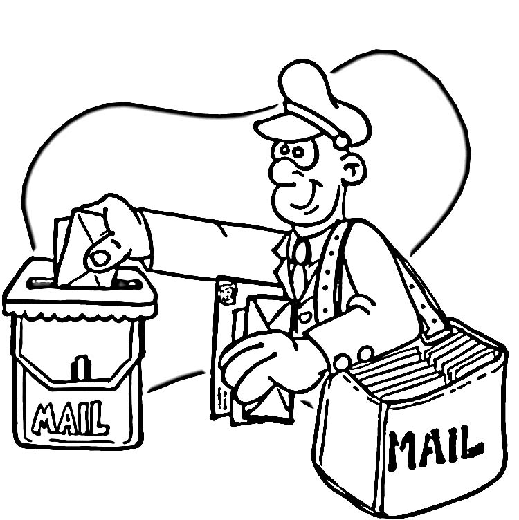 Postman Pat Coloring Pages 1
