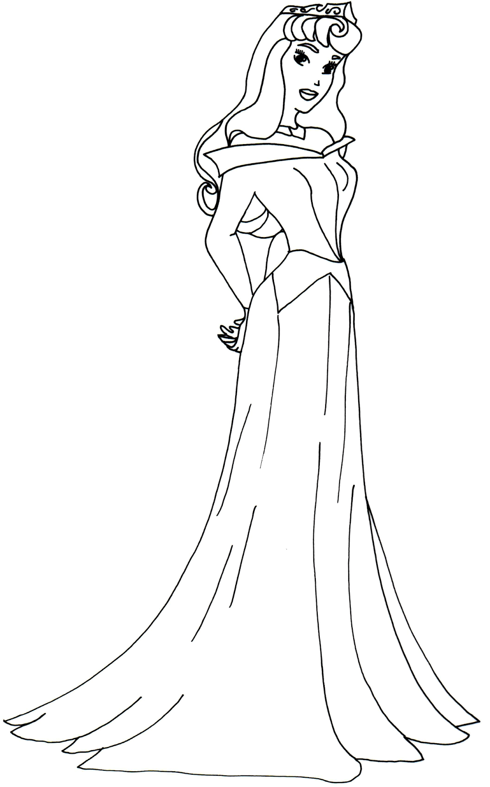 princess aurora sofia the first coloring page