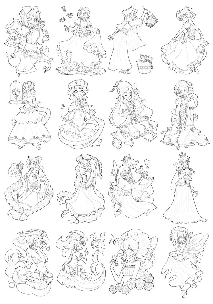 Princess Coloring Pages (19)