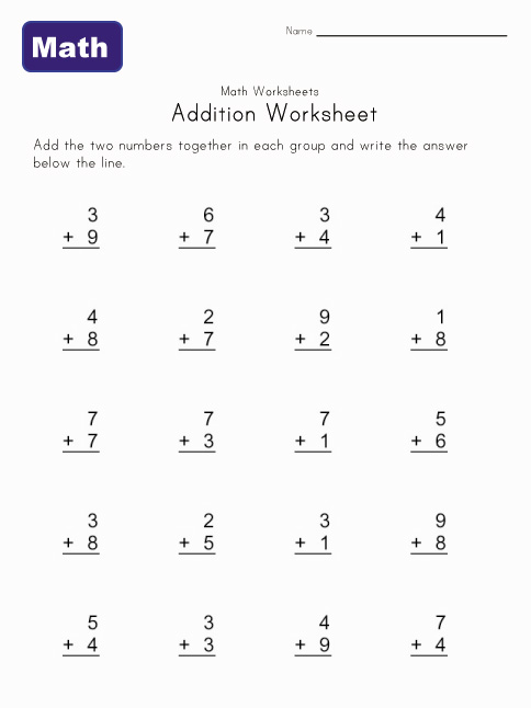 Number Names Worksheets free printable for kindergarten : Printable Kindergarten Worksheets (3) - Coloring Kids
