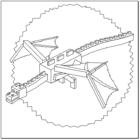 Printable Minecraft Ender Dragon coloring pages.