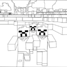 Printable Minecraft Zombies coloring pages.