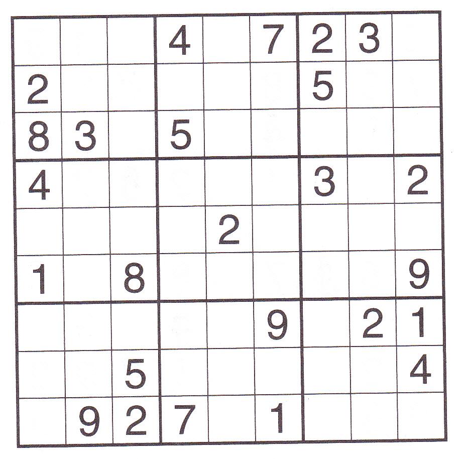 Printable Sudoku Puzzles (5) | Coloring Kids