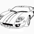 Race Car with Cool Stripe-coloringkids.org