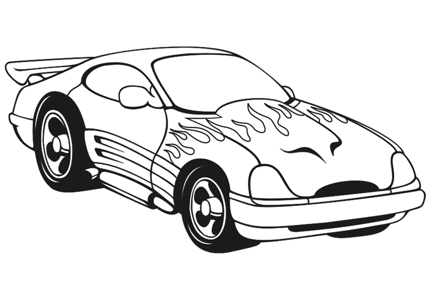 Racing Car Coloring Pages |coloringkids.org