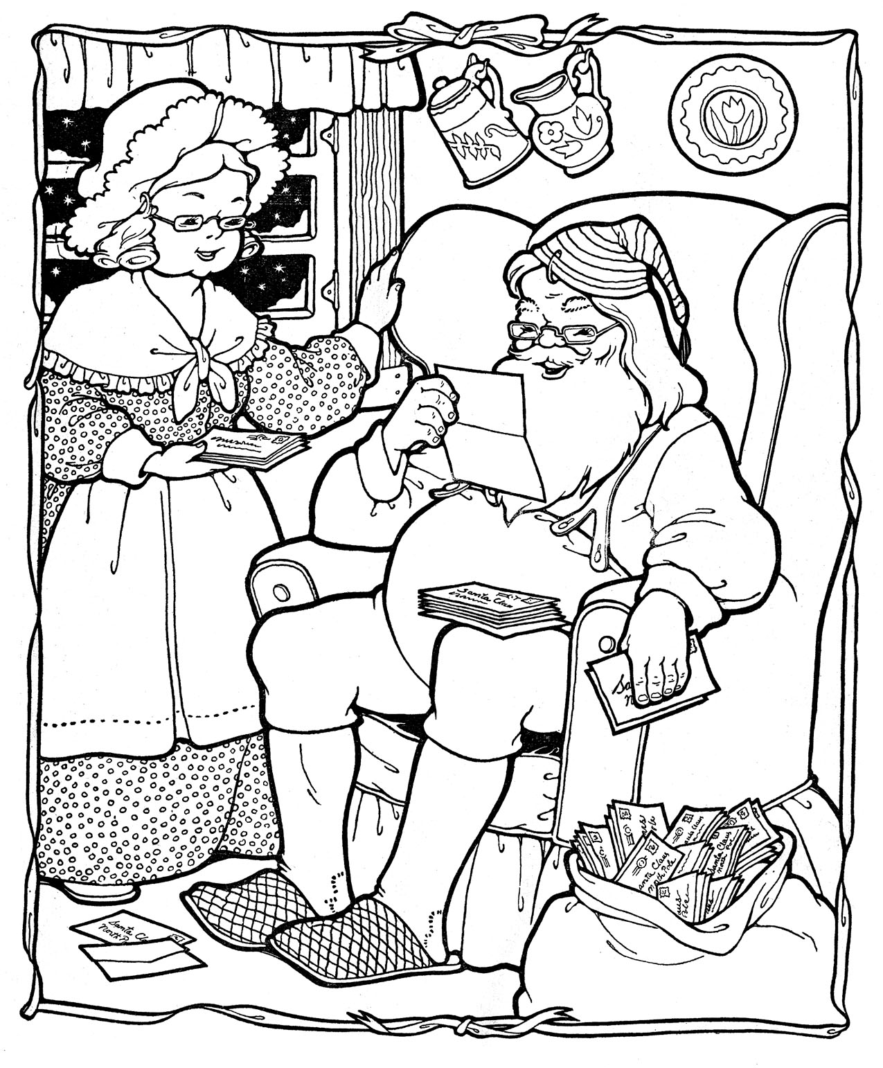 Santa Coloring Pages (26) Coloring Kids - Coloring Kids