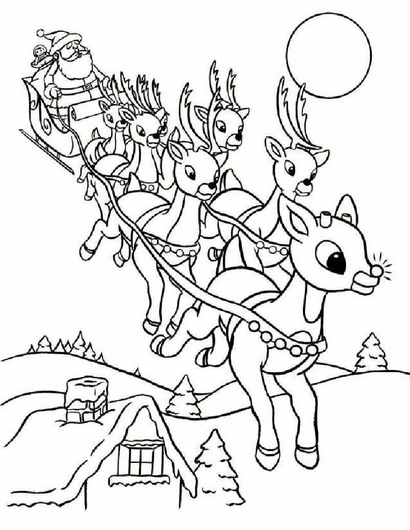Santa Coloring Pages (9)
